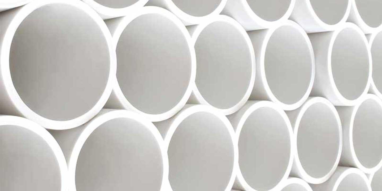white hdpe pipe