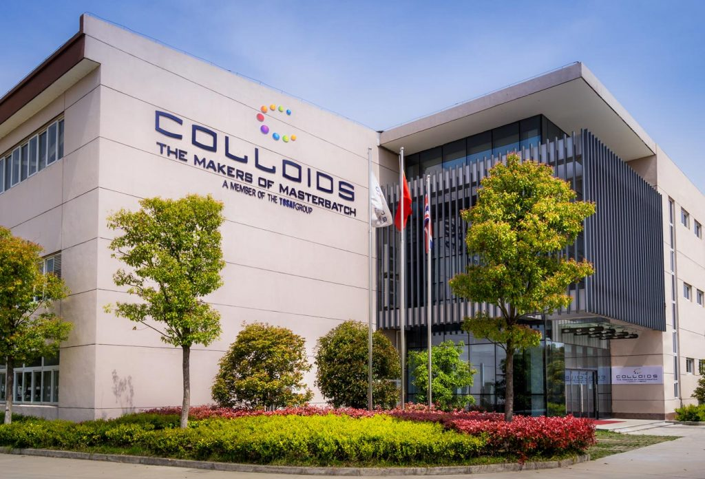 Colloids Plastic (Suzhou) Co.Ltd, located in the Changshu Economic Development Zone, a jurisdiction of Suzhou in Jiangsu province, about two hours north west of Shanghai.